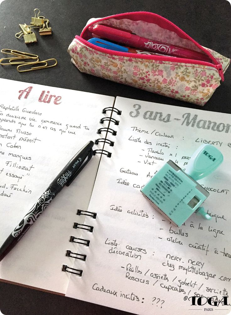 Bullet journal by Toga