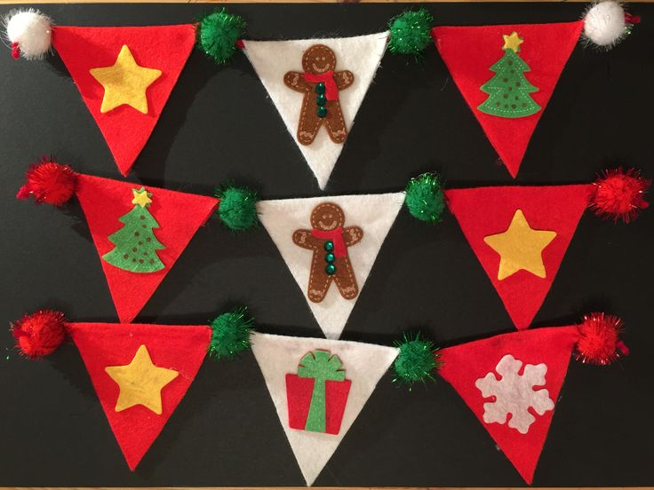 Christmas felt burning used to decorate gifts, really easy no sew project, just got glue.