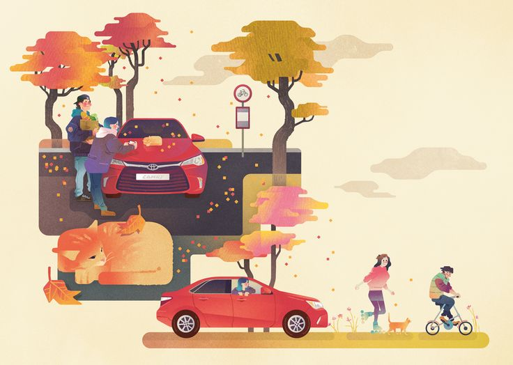 Camry in fall on Behance