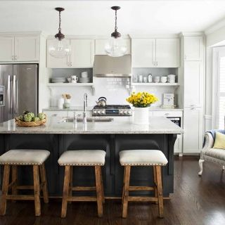 Kitchen with transitional style