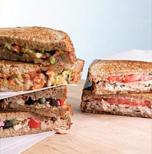 Our Southwestern Cheese Panini is not just any grilled cheese sandwich. It's packed with zucchini, carrots, onions and salsa so you're getting extra vegetables too. You don't need a fancy sandwich press to make this sandwich. Just weigh it down with an extra skillet and a few cans.