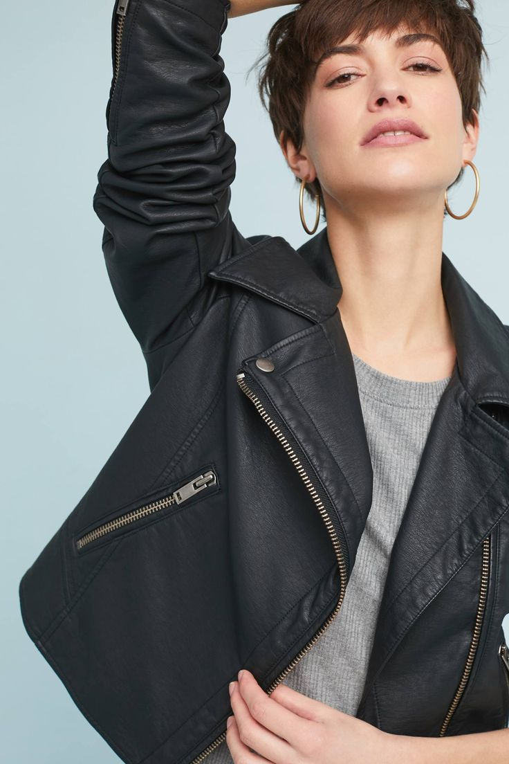 Shop The Shrunken Vegan Leather Moto Jacket And More Anthropologie At Anthropologie Today R Vegan Leather Moto Jacket Leather Moto Jacket Vegan Leather Jacket