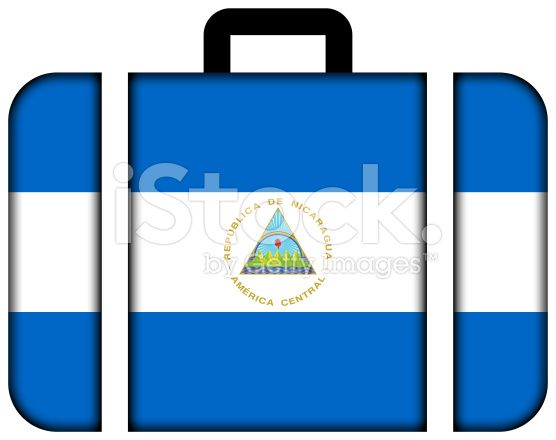 Suitcase with Nicaragua Flag royalty-free stock photo