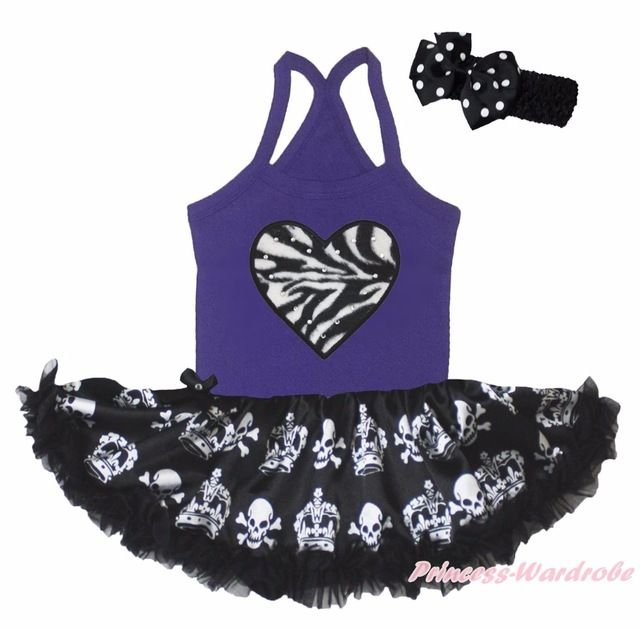 Promotion price Halloween Skeleton Sprider Zebra Heart Purple Halter Neck Bodysuit Girl Skull Crown Black Baby Dress Tutu Outfit NB-24M just only $15.99 with free shipping worldwide  #babygirlsclothing Plese click on picture to see our special price for you