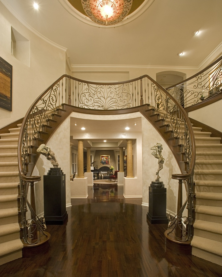 Transitional Grand Entry Foyer by Featured Designer Megan Crane!