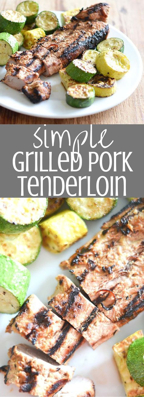 Simple Grilled Pork Tenderloin /This is delicious. Has a great flavor. I marinated all day in the fridge. Grilled for 20 minutes, turning every 5 minutes. Will make again.