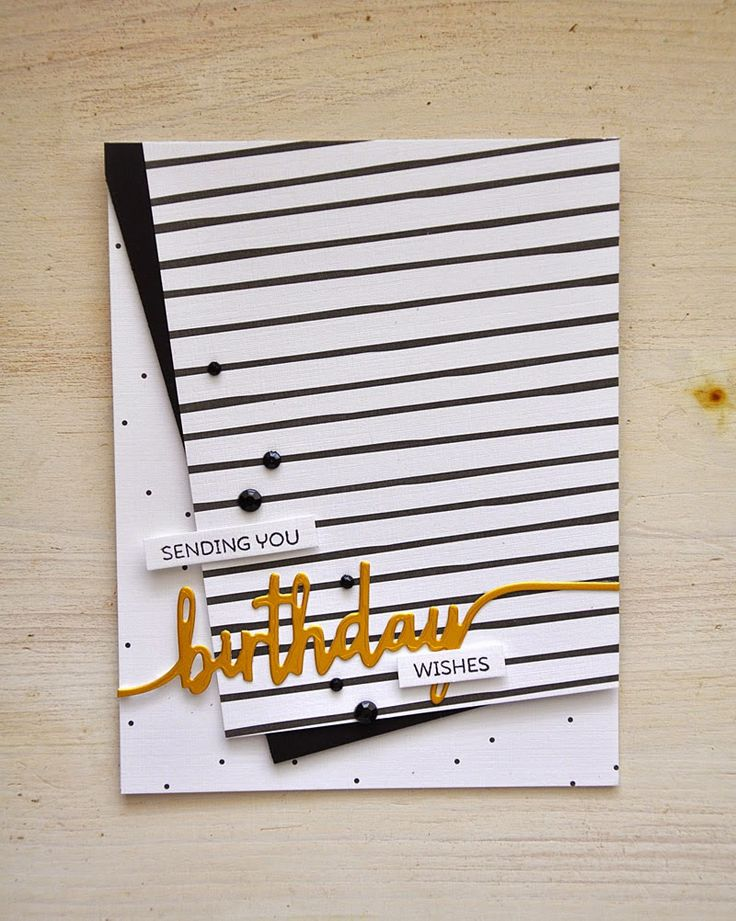 Simply Stamped: birthday wishes | Introducing Black & White All Over and Super Swoosh