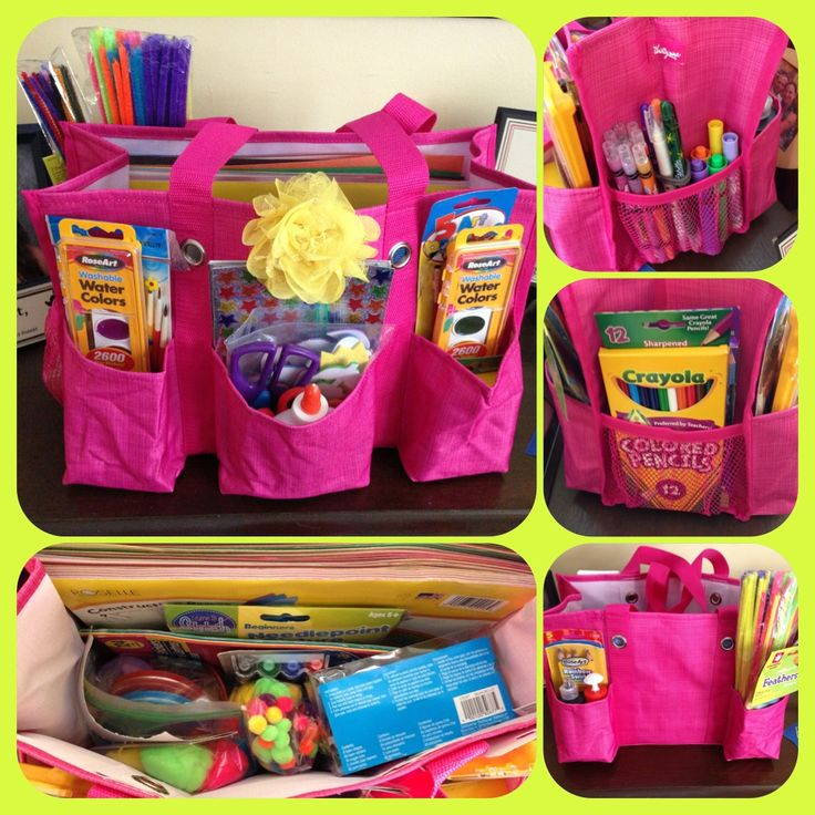 organizing utility tote for arts & crafts...scrapbooking...card making...knitting - just to name a few. Great craft bags for the kids.
