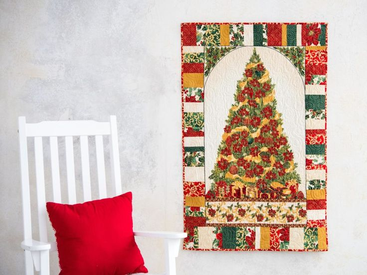 Home for the Holidays Christmas is Coming! Red Quilt Kit