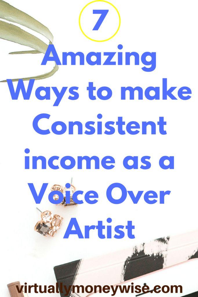 make money as a voice over artist