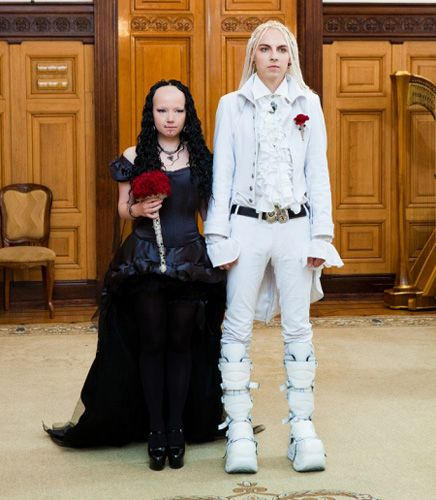 Russian Goth Wedding Fail
