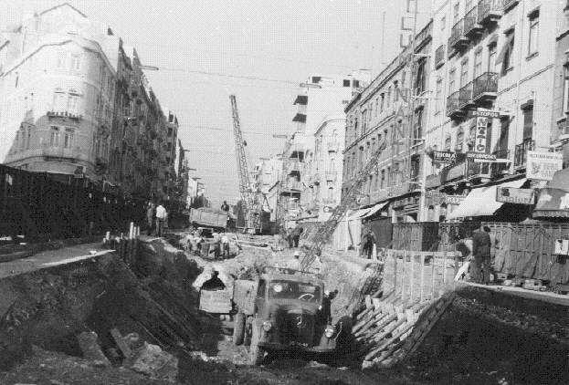 Memórias de Lisboa - Avenida Almirante Reis | Obras do Metropolitano - 1950/1970
