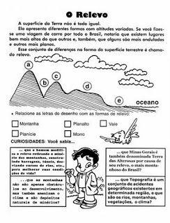 ATIVIDADES DE GEOGRAFIA 4° ANO FUNDAMENTAL EXERCÍCIOS IMAGENS PARA IMPRIMIR VII | PORTAL ESCOLA