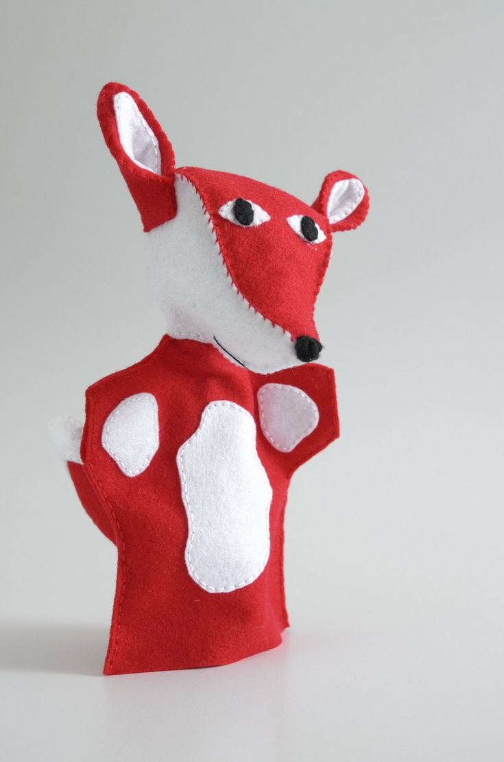 KÉSZ!!!!! Fox hand puppet - fox wedding, fox the little prince, fox teddy, fox plush, fox doll - by FeltforAdults on Etsy