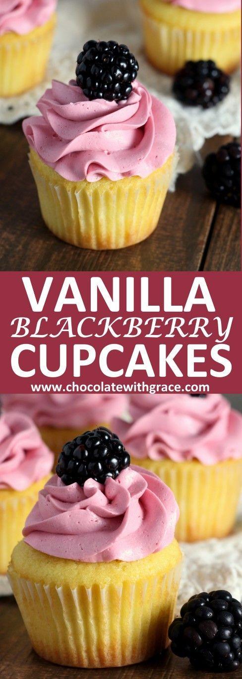 Blackberry Vanilla Cupcakes (2)