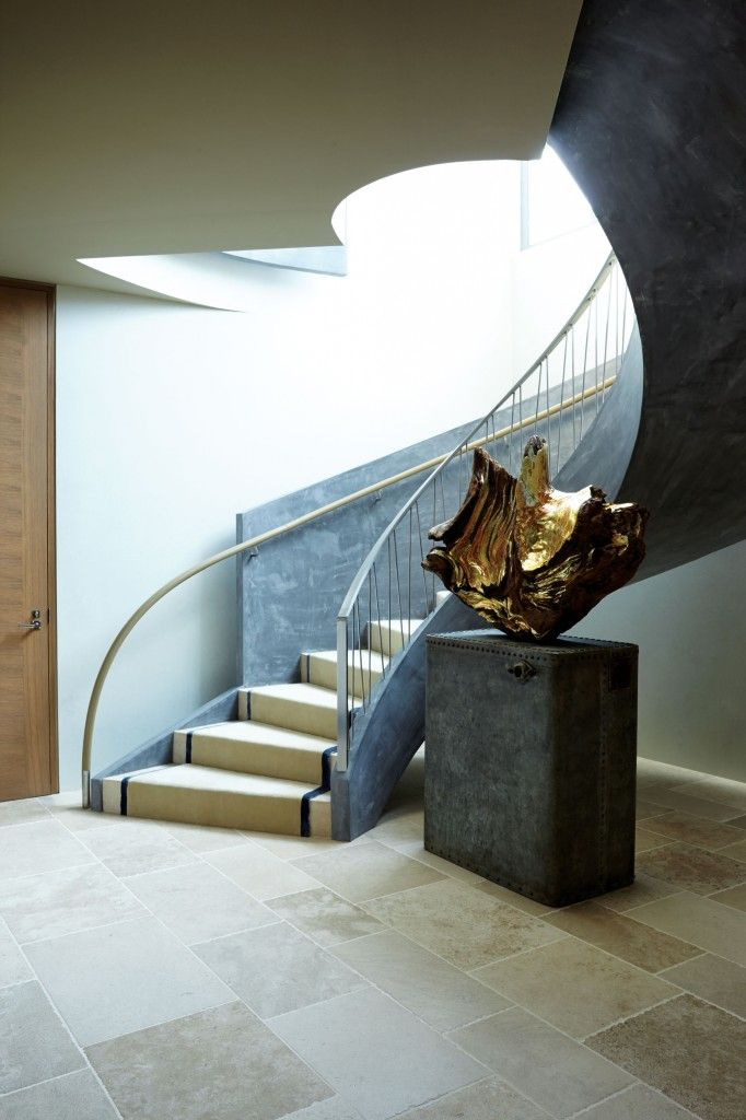 Contemporary-cool style stairs | designed by Bravo's 'Million Dollar Decorators' design dream-team, Jeffrey Alan Marks and Ross Cassidy.