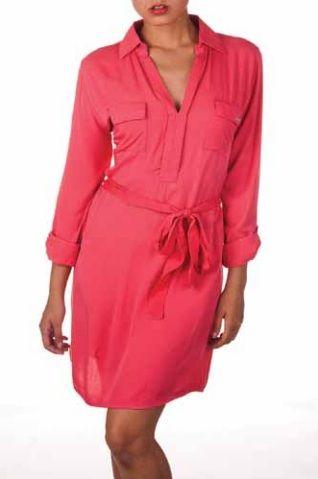 Bright Pink Wrap Dress