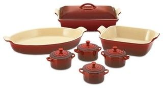 Le Creuset Stoneware 12-Piece Bakeware Set - traditional - cookware and bakeware - by Williams-Sonoma