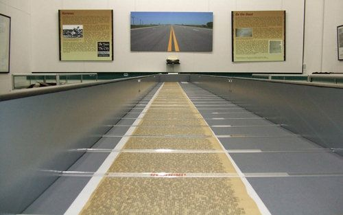 """The 120-foot scroll of Kerouac's """"On the Road""""."""
