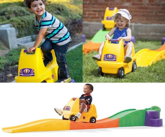 FYI: Roller Coaster Ride On Backyard Indoor Play Car 10 Feet Track Toddler Play Fun