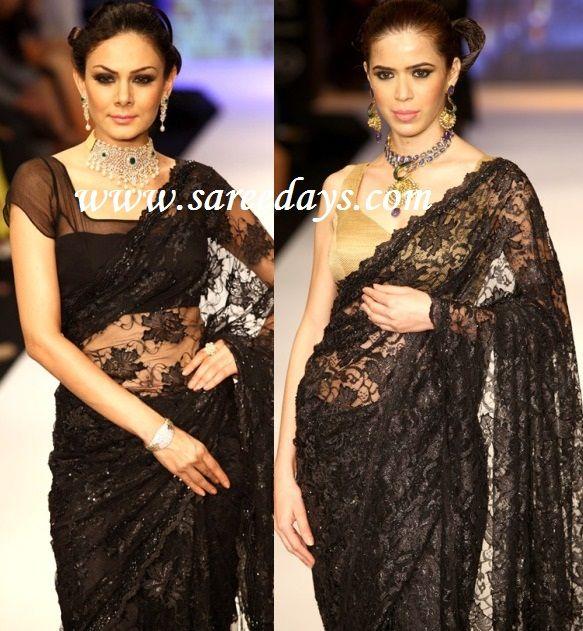 Need black lace saree