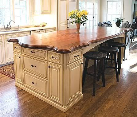 Should Backsplash Match Countertop   RE: wood island top - should it match the wood floor color?