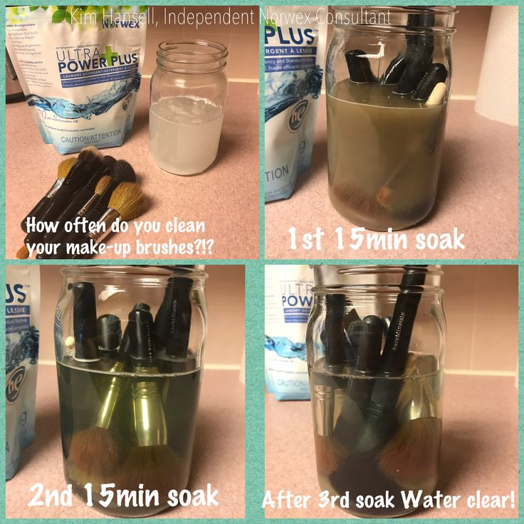 When was the last time you cleaned your Make-up brushes?!?! I hadn't for 6 years...gross!! Ask me about our Ultra Power Plus, all natural detergent that's way more then a laundry detergent!! (Krhansell.norwex.biz)