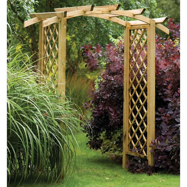 This One Is Really Nice Too: Wide Rafter Top Wooden Garden Arch Archway    Westmount