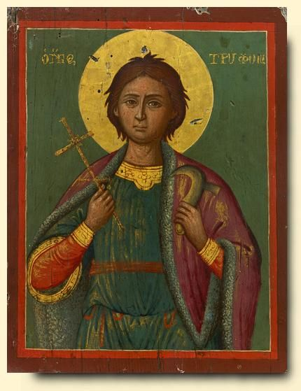 Saint Tryphon - exhibited at the Temple Gallery, specialists in Russian icons