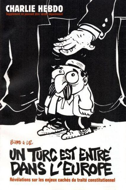 Charlie Hebdo - Supplément au # 673 - Traité Constitutionnel - 11 Mai 2005 - Couverture : Luz