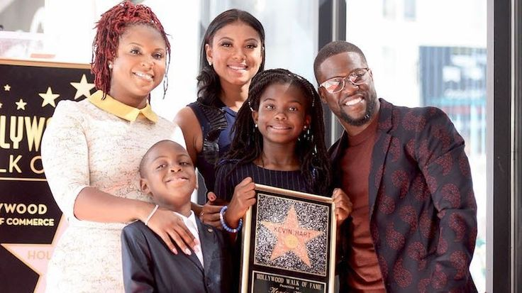 Kevin Hart with family