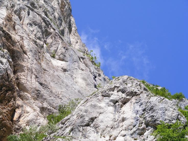 Rock climbing. Rasnov, Romania