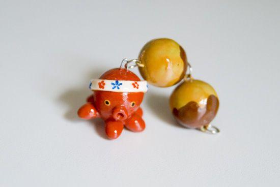 Polymer clay octopus & yummy balls :)