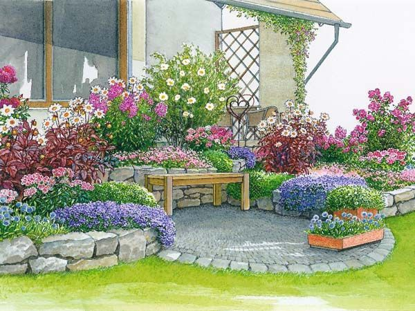 Gallery Of Einladende Sitzgelegenheiten Am Haus Haus Und Garten   Mein  Schoner Garten Vorgarten | Mein Schoner Garten Gartenplaner New Garten  Ideen, ...