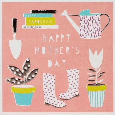print & pattern, mothers day, gardening, print, pattern, design, greeting card, lettering, type, colour, spring, illustration, collage
