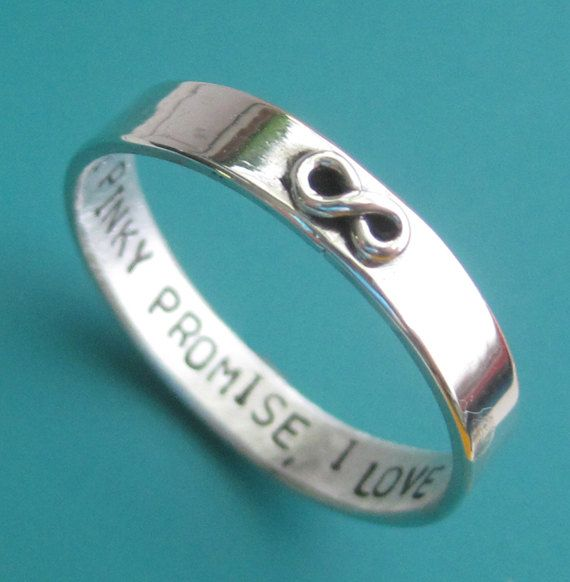 Custom Stamped Infinity Ring by sudlow on Etsy, $50.00