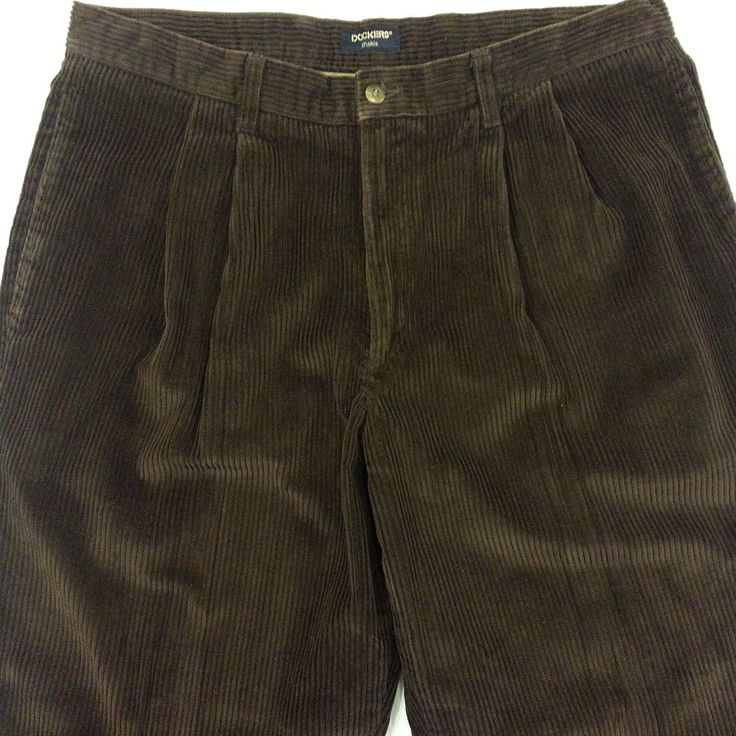 Mens Pleated Corduroy Pants