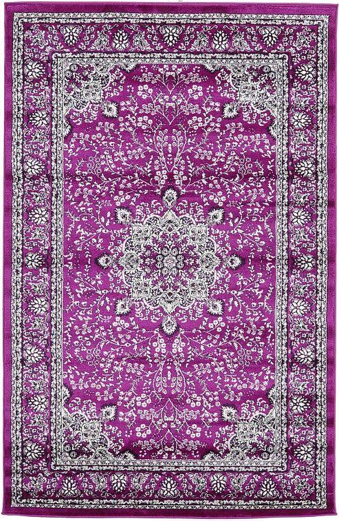 Purple 5' 3 x 8' 2 Isfahan Design Rug | Area Rugs | eSaleRugs