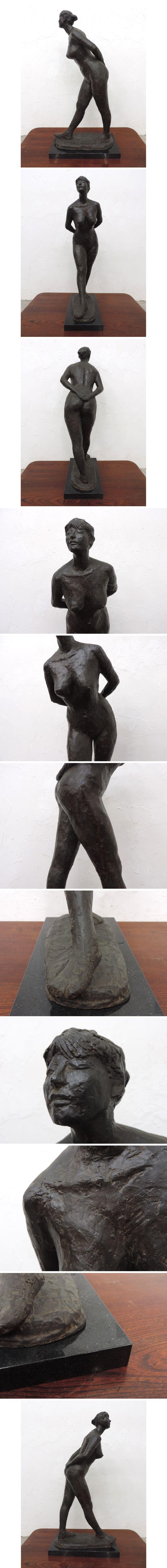 裸婦のブロンズ像73cm大理石台/近代彫刻高村光太郎ロダン  - ヤフオク!