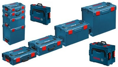 Clickable New modular storage/transport system from Bosch, for stage crews, aid workers, and car-campers alike.
