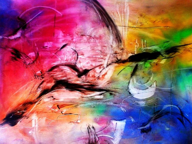 L 39 envol e sauvage the wild soaring 50x65cm for Abstraction lyrique