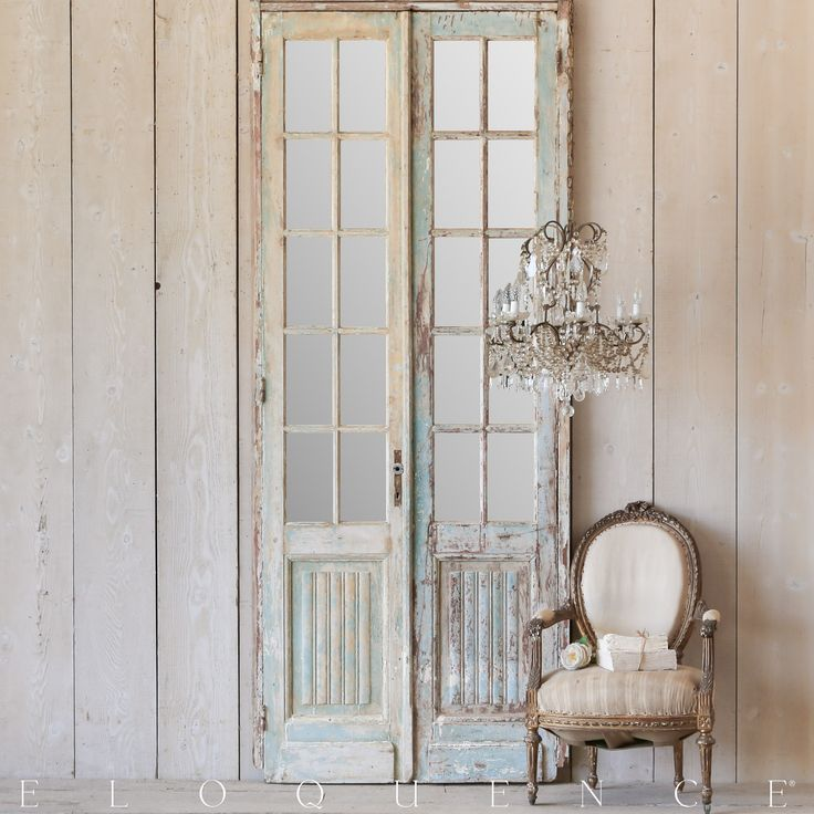With a refined elegance and natural wood, we offer a variety of vintage  style furniture and decor including shabby chic and French-style furniture  that will ... - 25 Best Antique Shutters & Doors Images On Pinterest Shutter