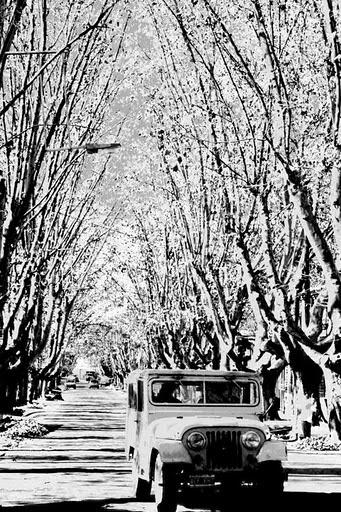 Calle Mitre y el Toba en su Jeep. #Chacrasdecoria #Mendoza