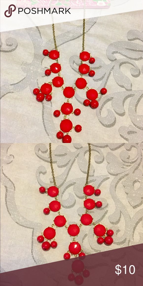 Red Bubble necklace Reb bubble necklace. Jewelry Necklaces