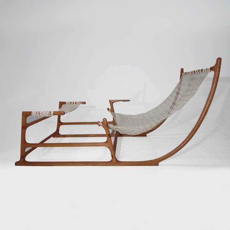 Stunning and Extremely Rare 1970's American Craft Hammock Chair | From a unique collection of antique and modern lounge chairs at http://www.1stdibs.com/furniture/seating/lounge-chairs/