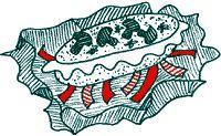 kip pakketje met boursin en paprika