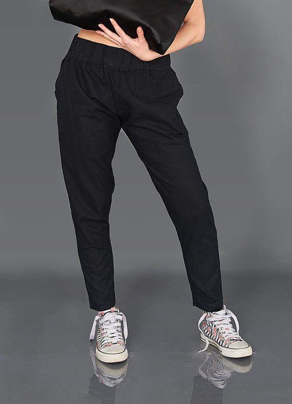 Linen Pants Women Trousers Plus Size Pants Black Pants
