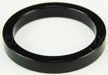 """BMX Headset spacer 1 1/8"""""""" Threadless 5mm thick - BLACK ANODIZED"""