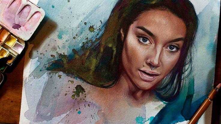 Maxida Märak - time lapse portrait or a video about how I fixed a fail (...