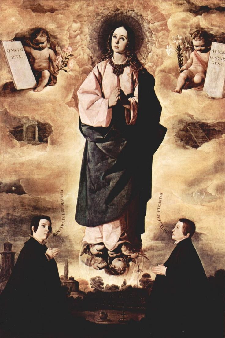 Inmaculada, Francisco de Zurbaran. Dalí loves Zurbaran if you look around the head of Inmaculada you understand why